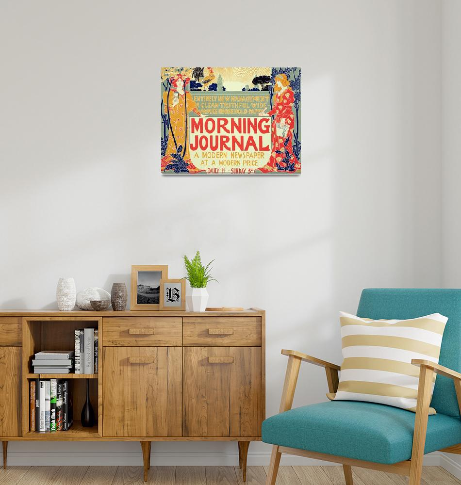 """""""Reproduction of a poster advertising the Morning J""""  by fineartmasters"""