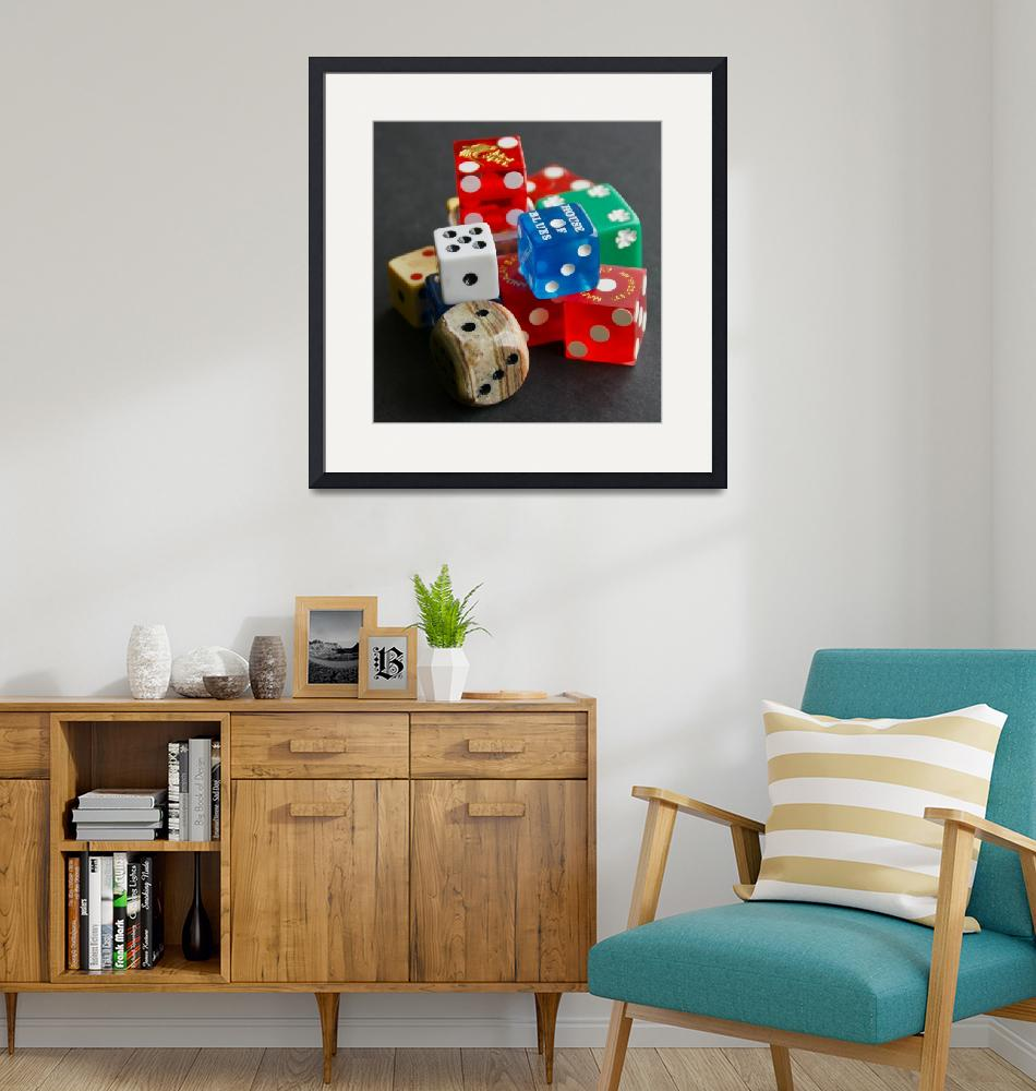 """A Collection of Dice""  (2010) by MoonLiteStudio"