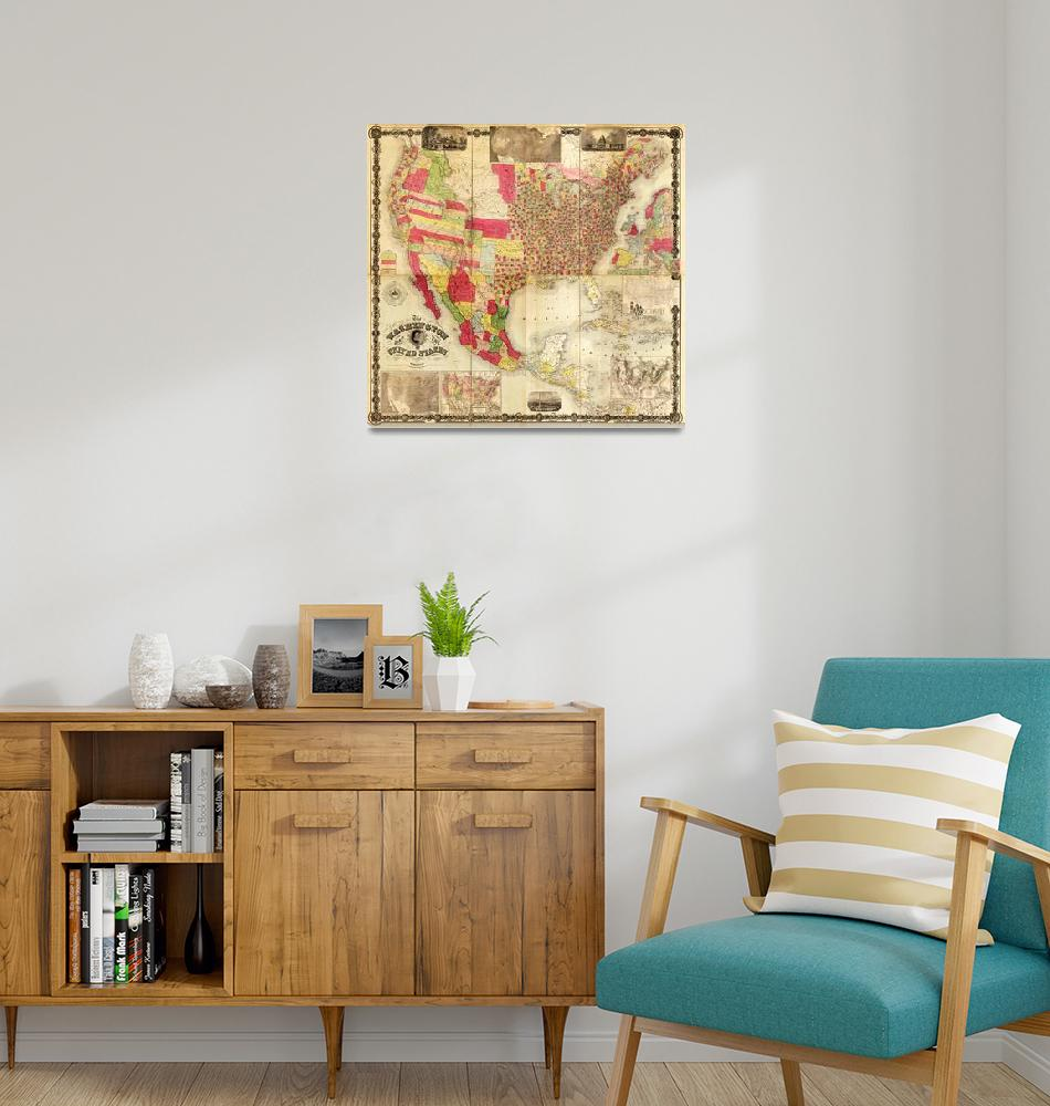 """The Washington Map of the United States (1860)""  by ArtHistory"