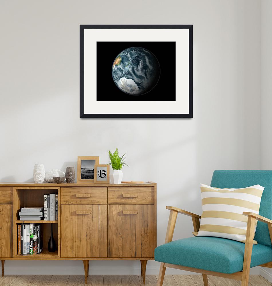 """""""Full view of the Earth highlighting Antarctica""""  by stocktrekimages"""