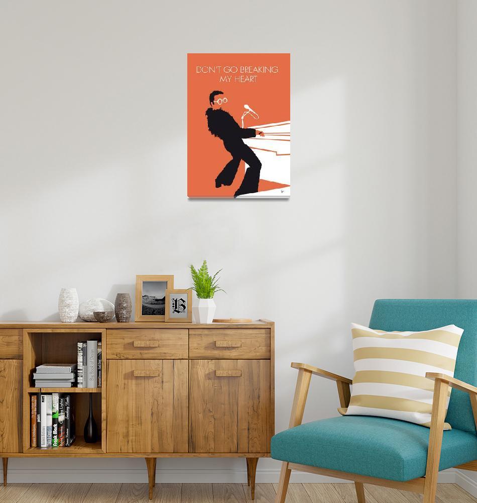 """""""No053 MY ELTON JOHN Minimal Music poster""""  by Chungkong"""