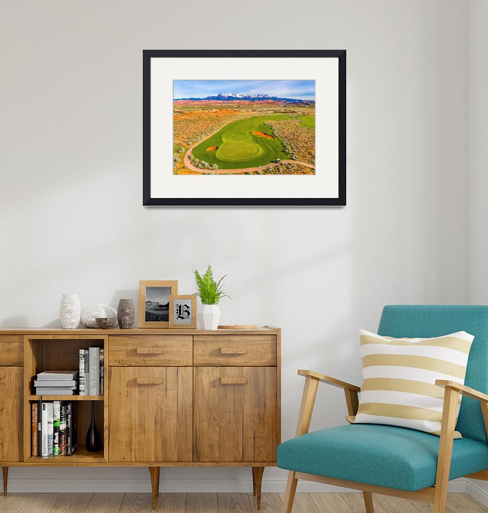 """""""Sand Hollow Golf Resort Hole 3""""  (2019) by centioliphotography"""