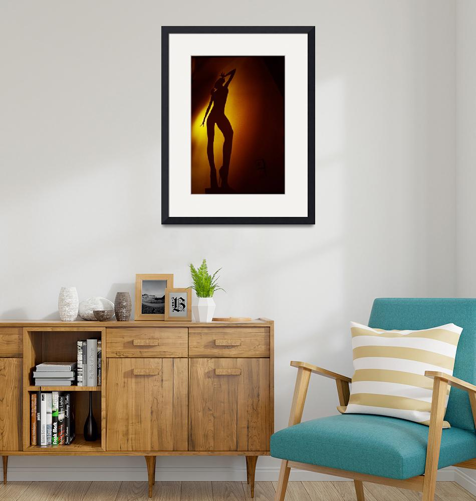 """Surrealist young lady nude ra4 darkroom print""  (2012) by edwardolive"