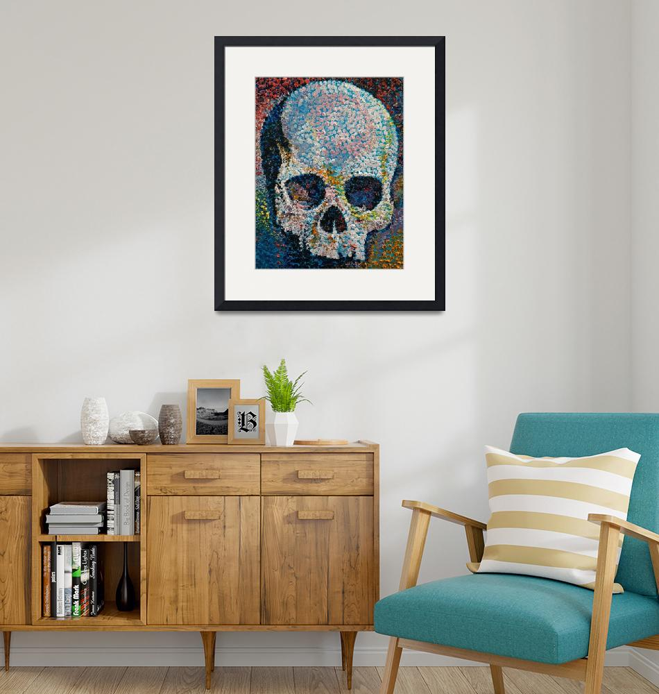 """""""Pointillism Skull""""  by creese"""