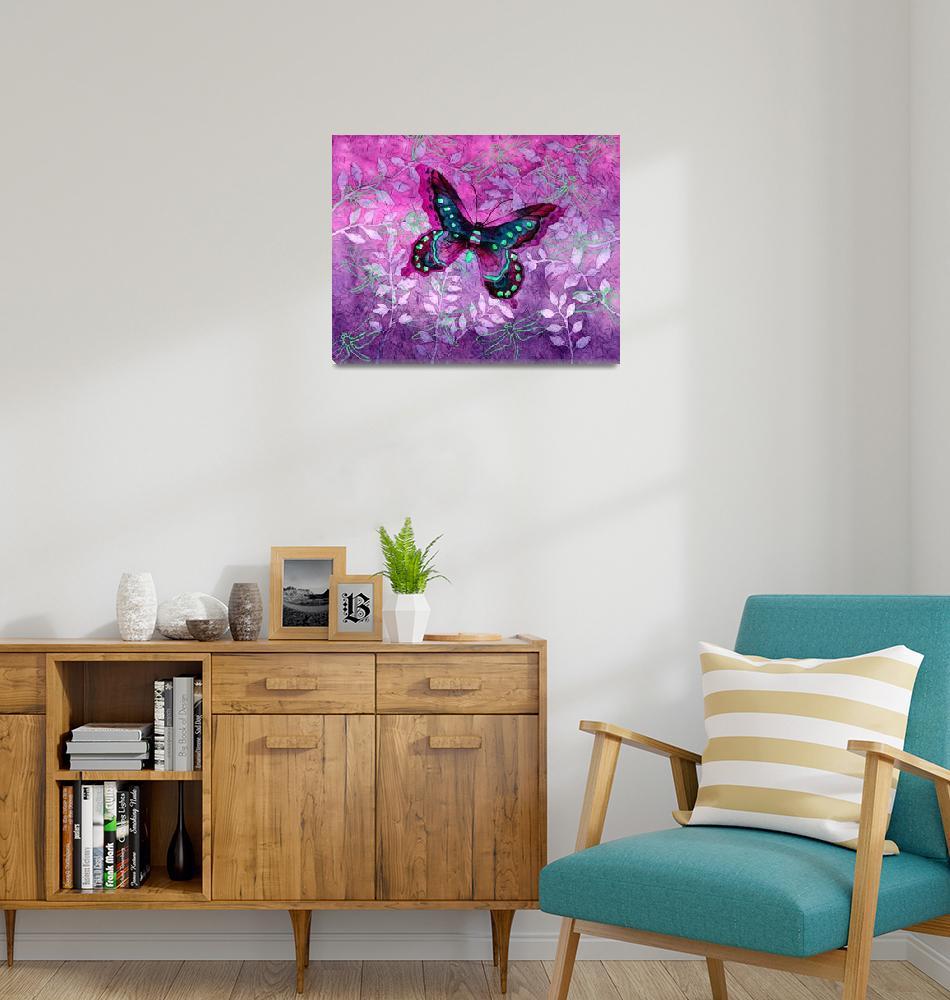 """""""Purple Butterfly""""  by HaileyWatermedia"""