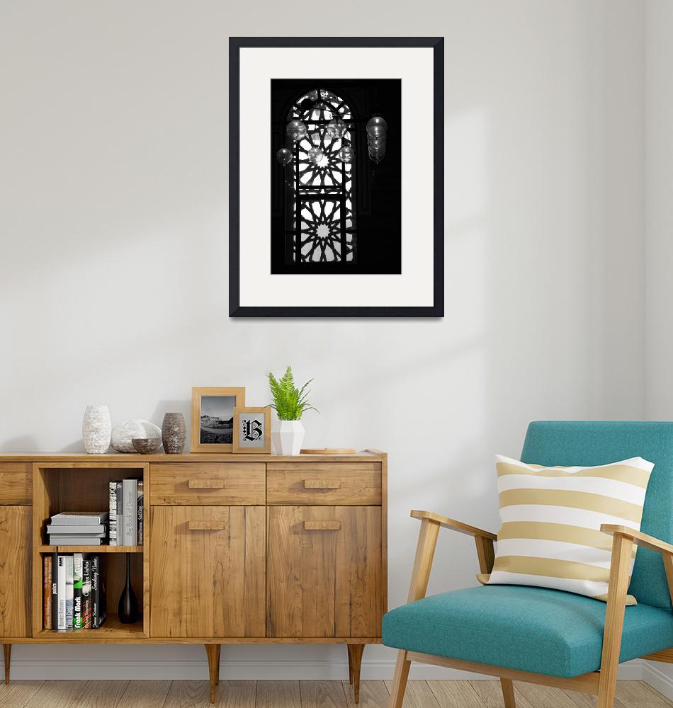 """""""Bahrain Mosque Window Lamp Balls Aligned""""  by DonnaCorless"""