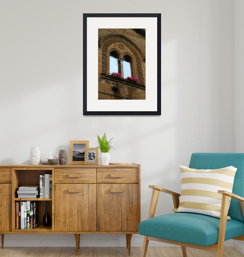 """Arched Brick Detailed Window""  by DonnaCorless"