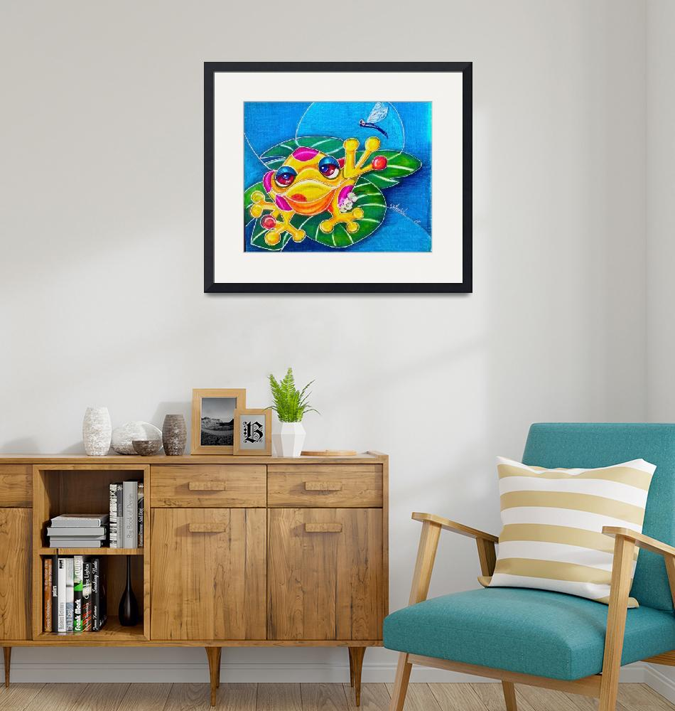 """""""frog painting prt"""" by AlmaLee"""