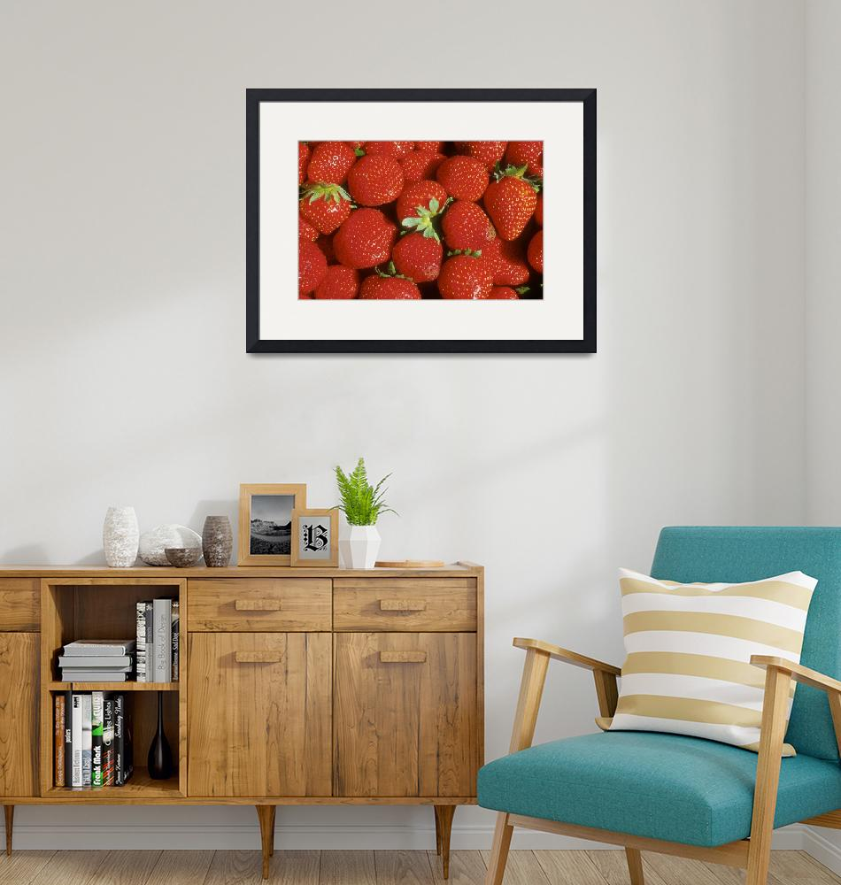 """""""Red, Red Strawberries""""  (2002) by SederquistPhotography"""
