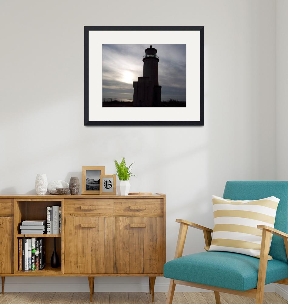 """""""North Head Lighthouse in the shadows""""  (2011) by northheadnovelties"""