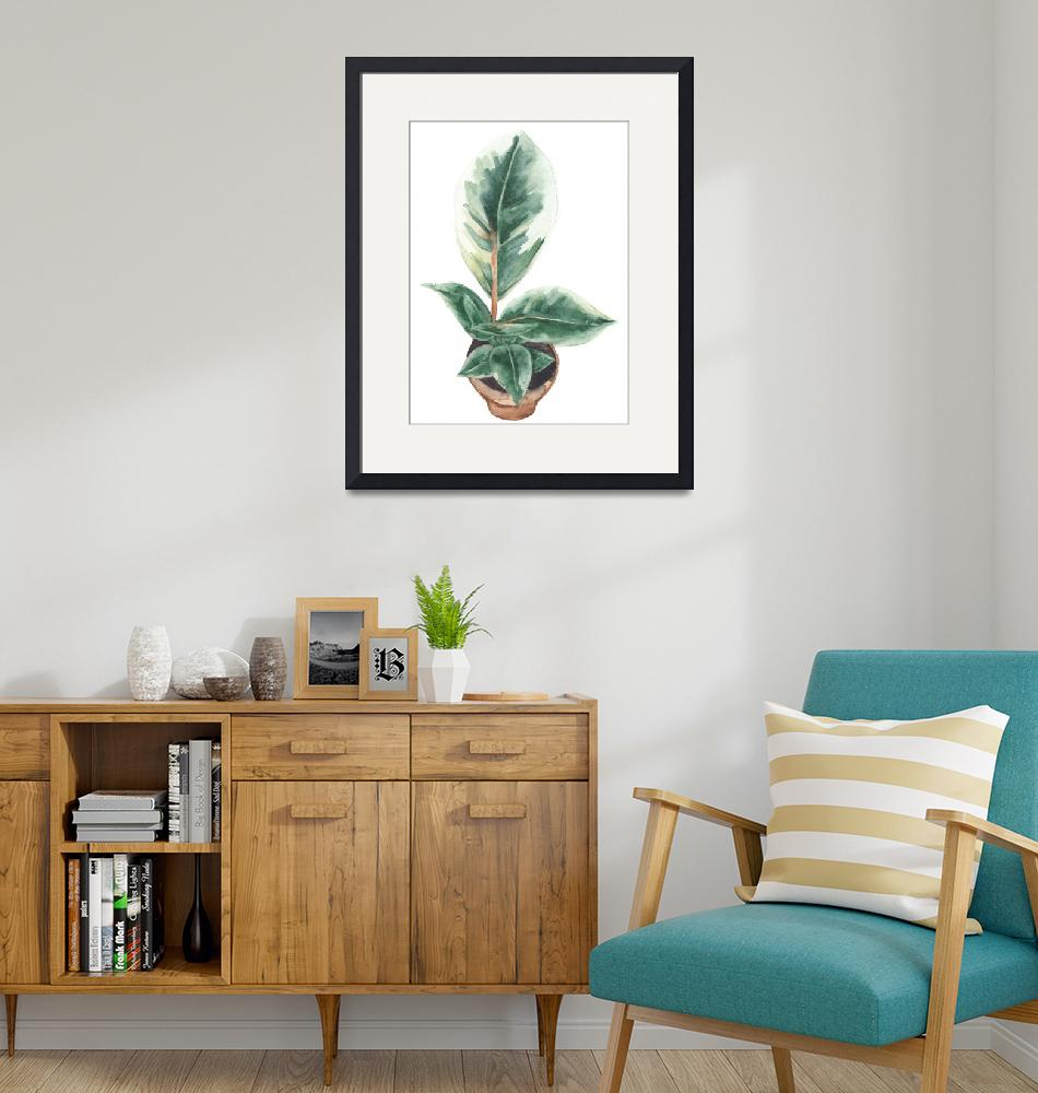 """""""Potted Variegated Plant""""  (2018) by Mereoneal"""