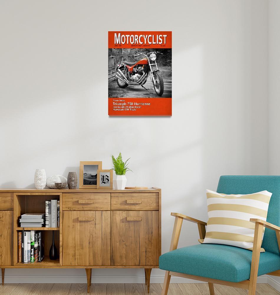 """Motorcycle Magazine Triumph Hurricane 1973""  (2010) by mark-rogan"