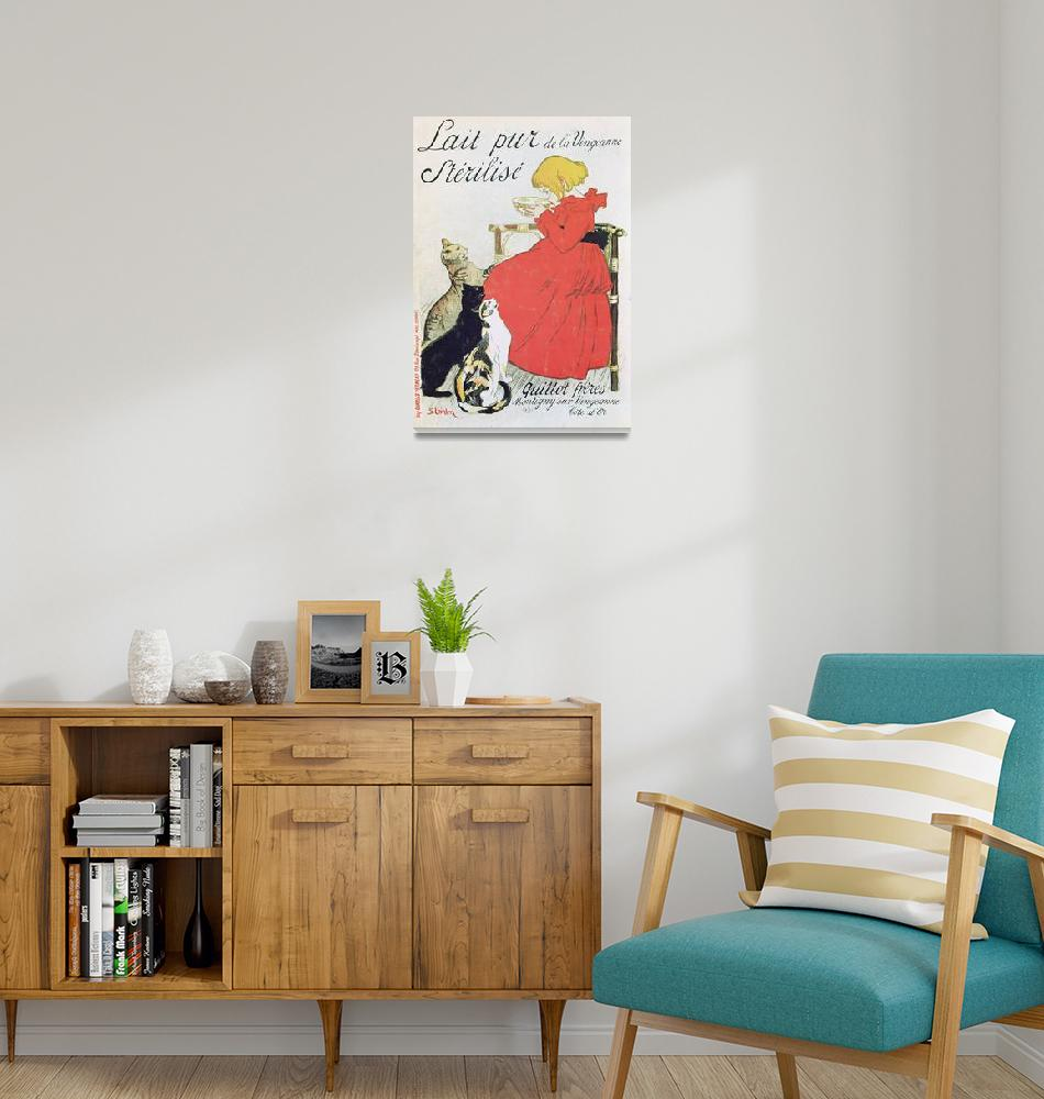 """""""Vintage French Poster advertising Milk""""  by fineartmasters"""