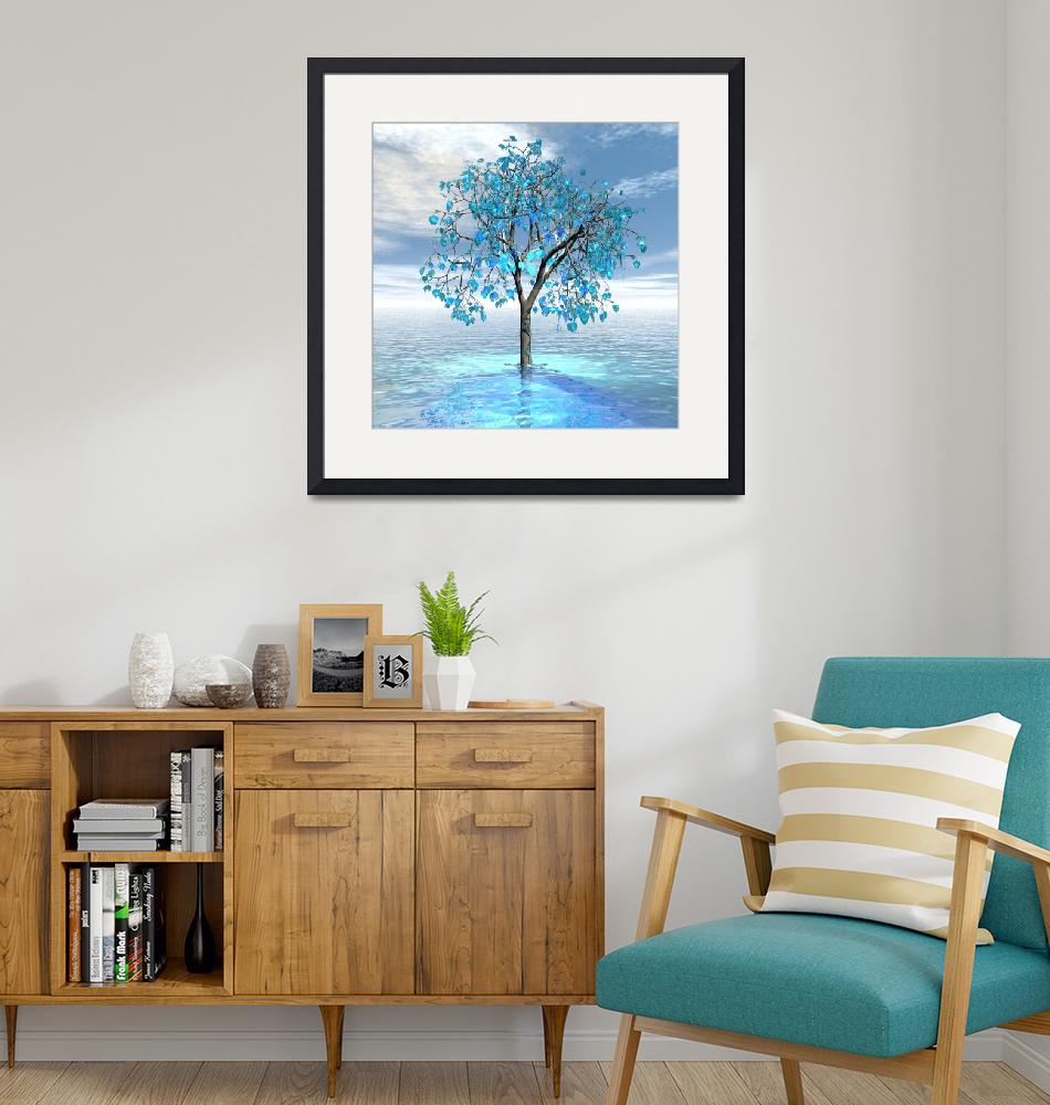 """""""Crystal Blue Tree""""  (2020) by Icarusismart"""
