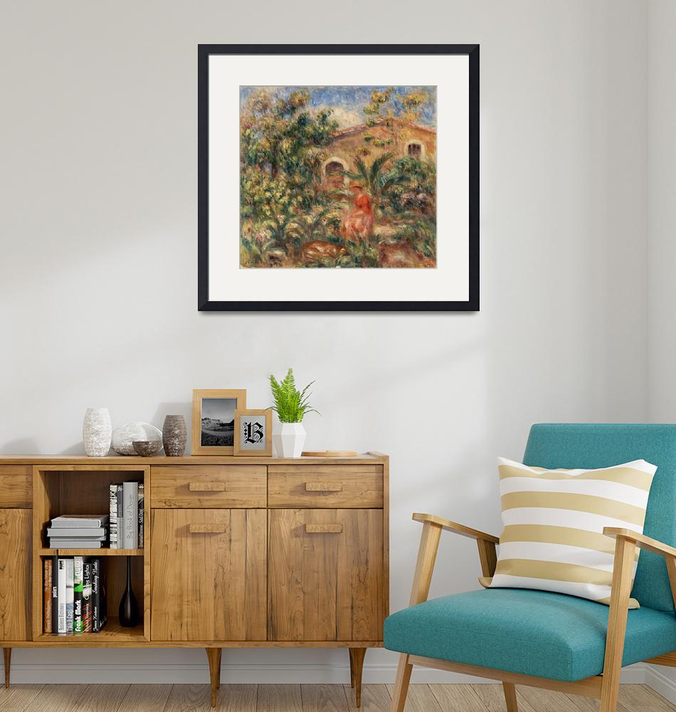 """Farmhouse by Renoir"" by FineArtClassics"