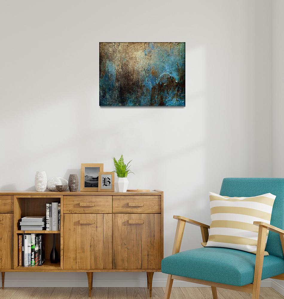 """""""Abstract Painting, OXIDIZED by Holly Anderson""""  (2014) by hollyandersonart"""