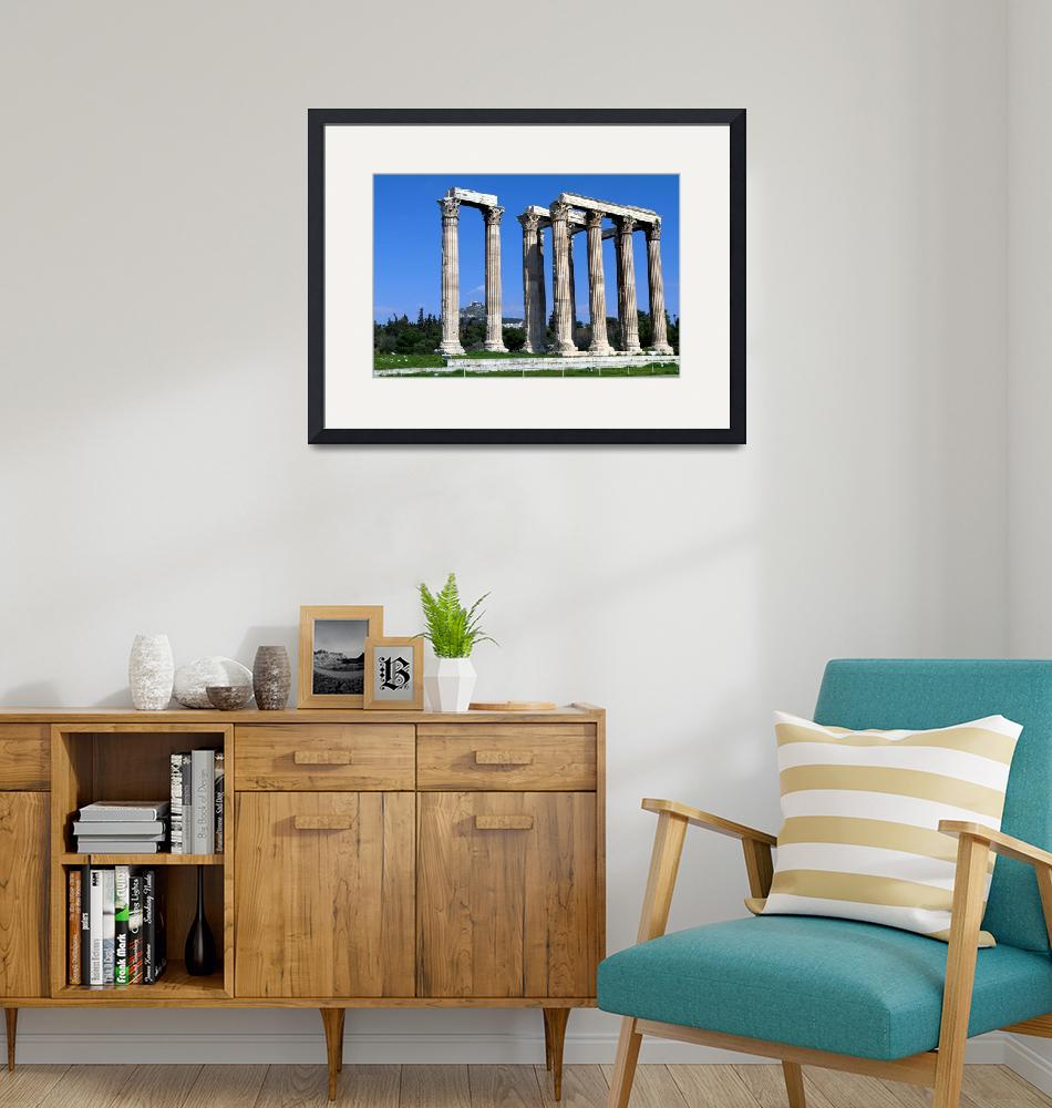 """""""The temple of Olympian Zeus""""  (2012) by kos29"""
