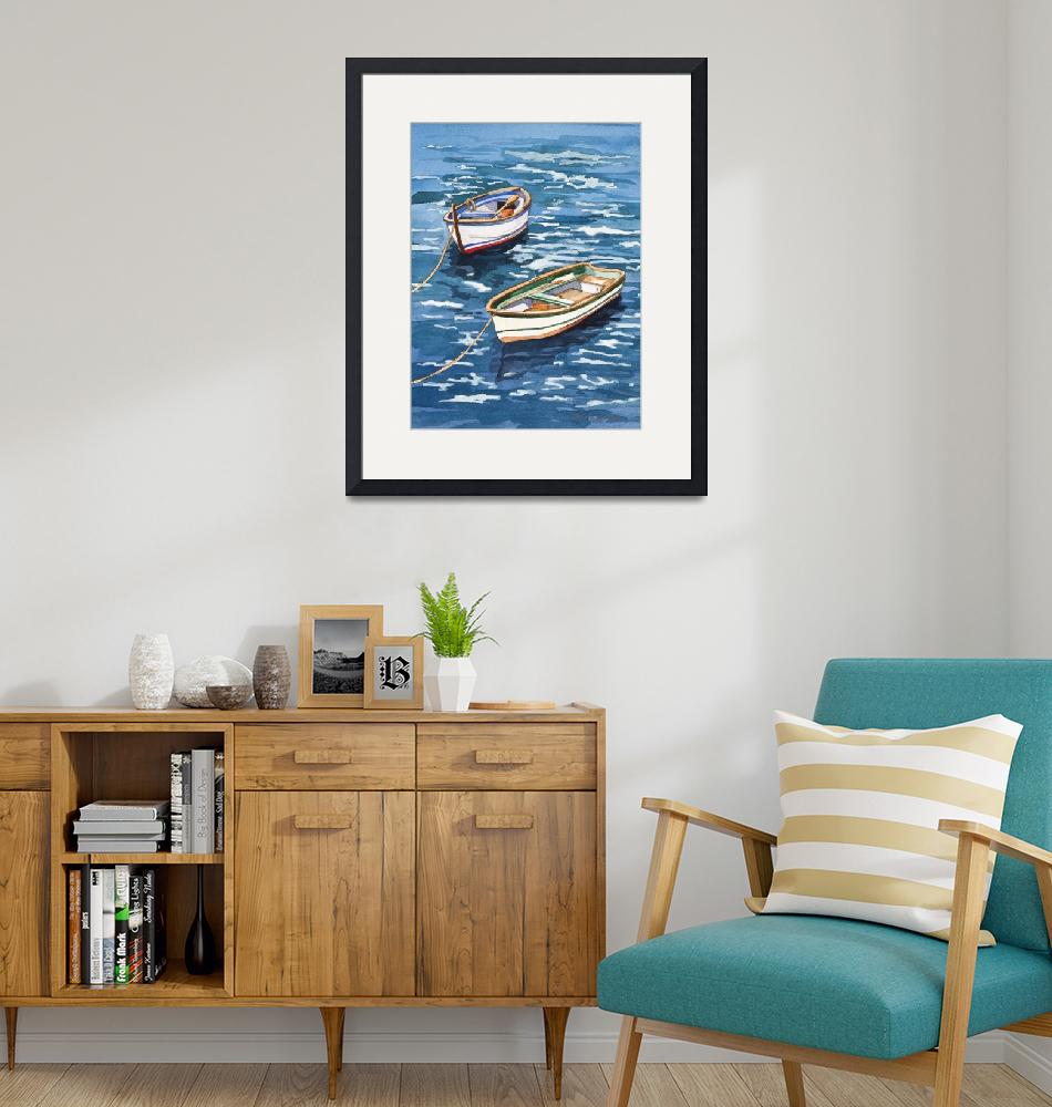 """""""Vernazza Boats""""  by WillyDaleArt"""