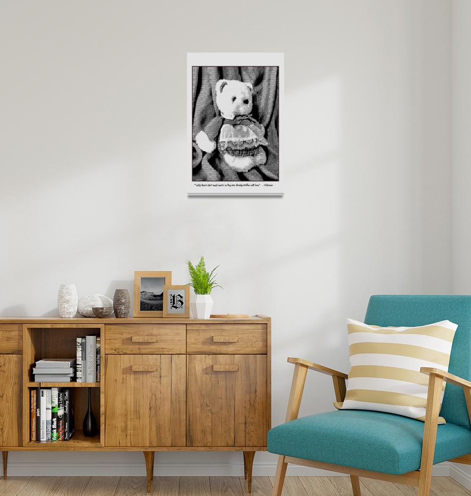 """Just a Little Bear""  (2014) by LeftHandPrints"