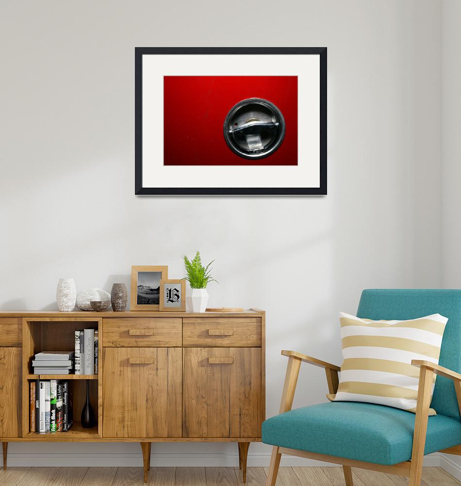 """""""Chrome Circle in Red Abstract Art to Buy""""  (2010) by tobiphoto"""