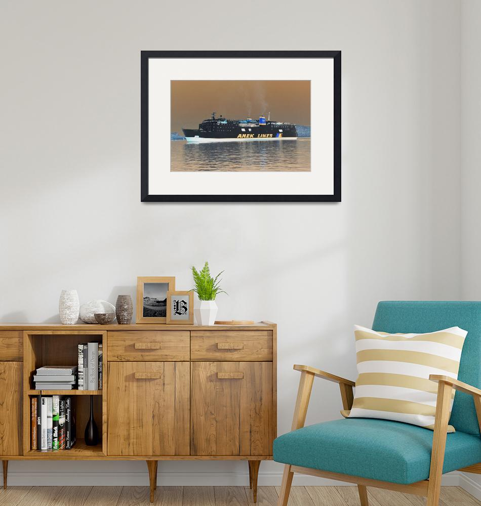 """""""Greek ferry inverted""""  (2010) by DavidFowler"""