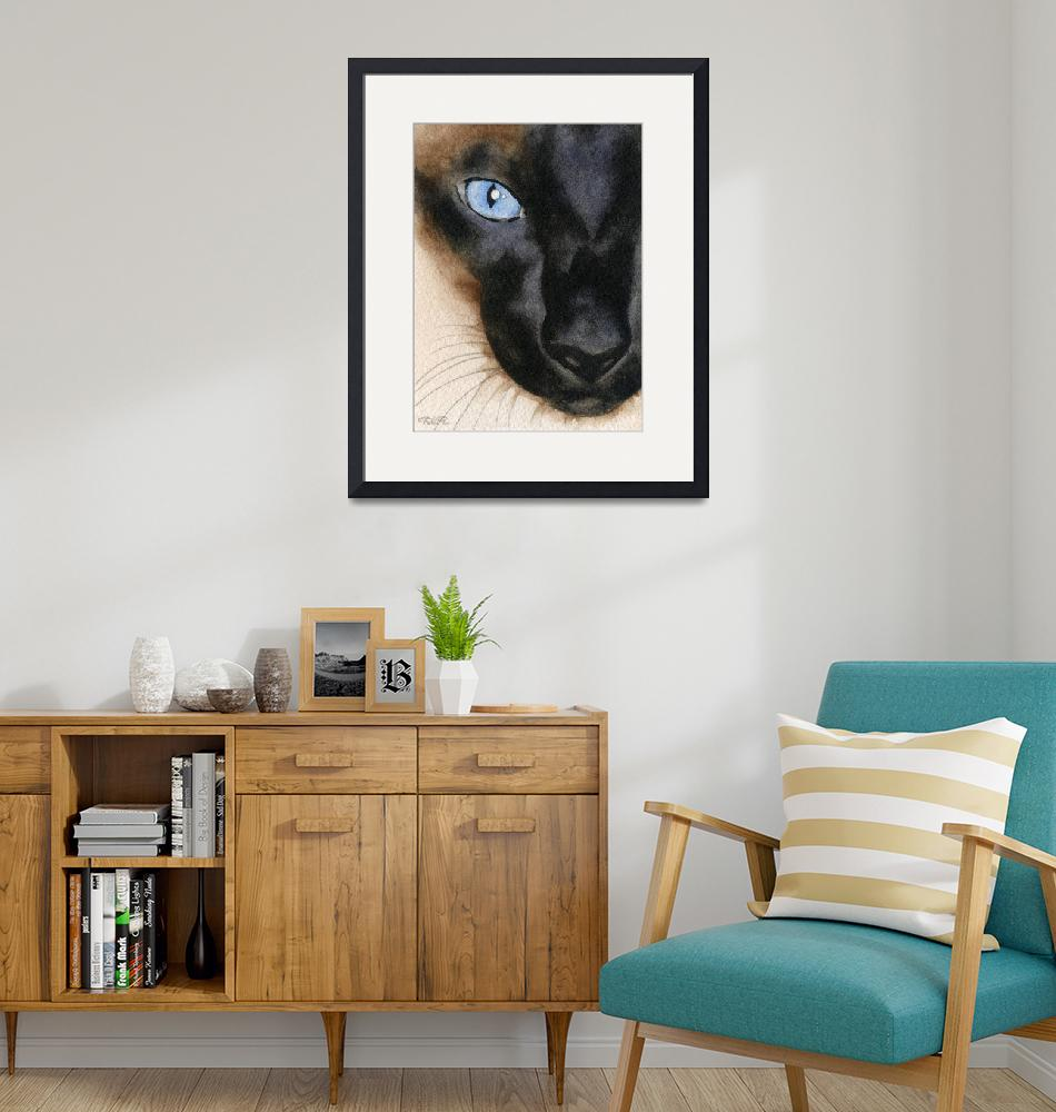 """Siamese Cat""  (2015) by k9artgallery"