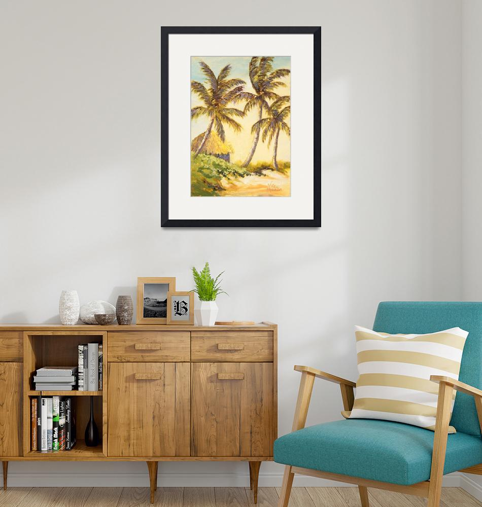 """""""Tropical Hut with Gold Leaf""""  by VicMastis"""