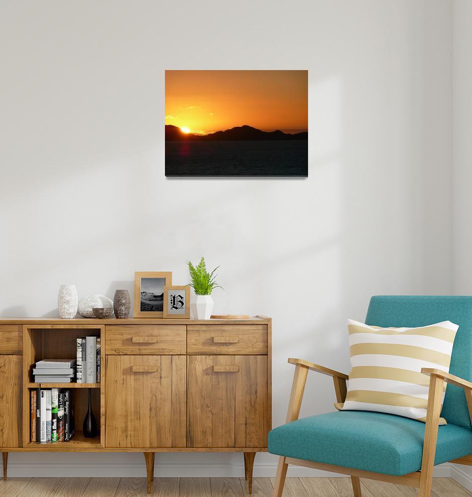 """Majestic orange sunset""  (2008) by travelpix"