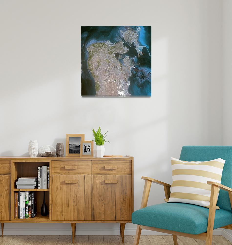 """Manama (Bahrain) : Satellite Image""  (2003) by astriumgeo"