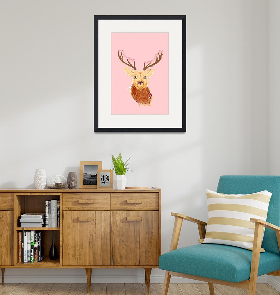 """""""deer_ with flowers""""  by CocoReed"""