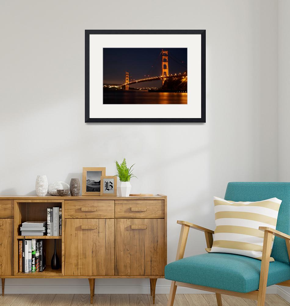"""""""The Golden Gate Bridge At Night""""  (2009) by OlamMasterImagery"""
