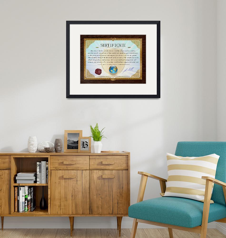 """""""Certificate document award 4"""" (2021) by Radiant"""