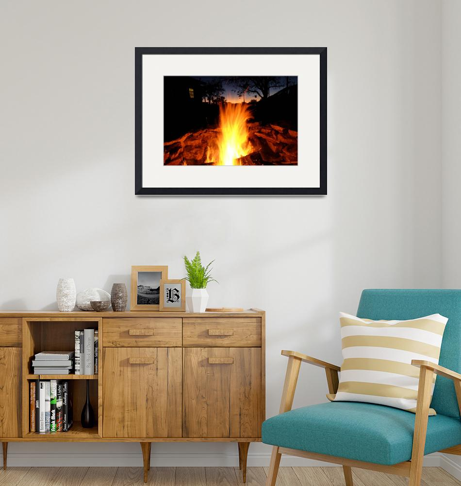 """""""Wood Fire"""" (2014) by jfwilliams"""
