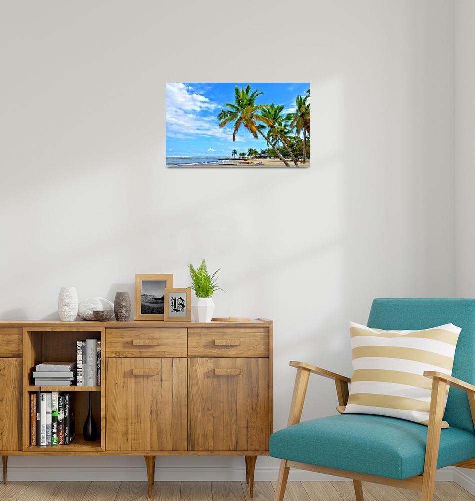 """Playa Dorada - Caribbean Beach""  (2010) by letlet"