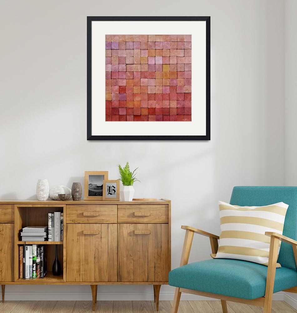 """""""Reclaimed Wood Gradiant Squares Painting""""  (2012) by LisaKDesigns"""
