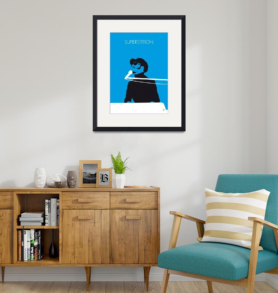 """No039 MY STEVIE WONDER Minimal Music poster"" by Chungkong"