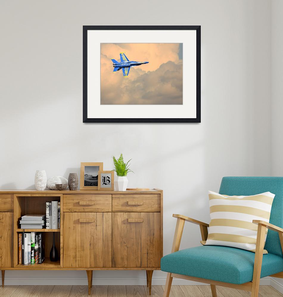 """""""Blue Angels in the Clouds""""  (2010) by wingsdomain"""