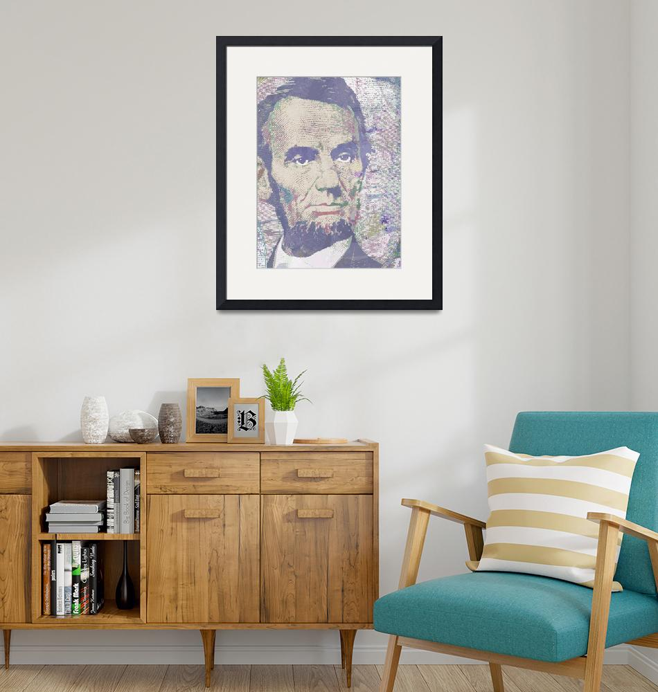 """Lincoln Reimagined Vertical""  (2014) by RubinoFineArt"