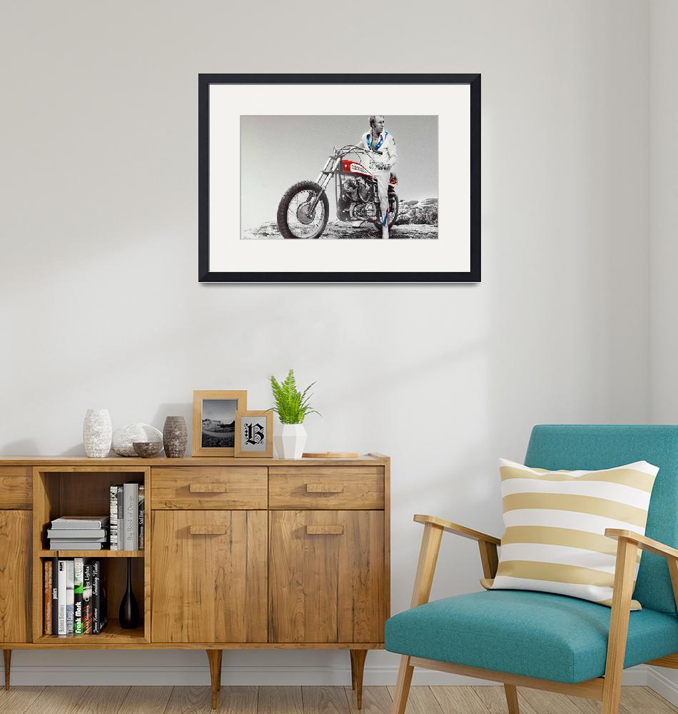 """""""Evel Knievel Painting Spot Color Large""""  by RubinoFineArt"""
