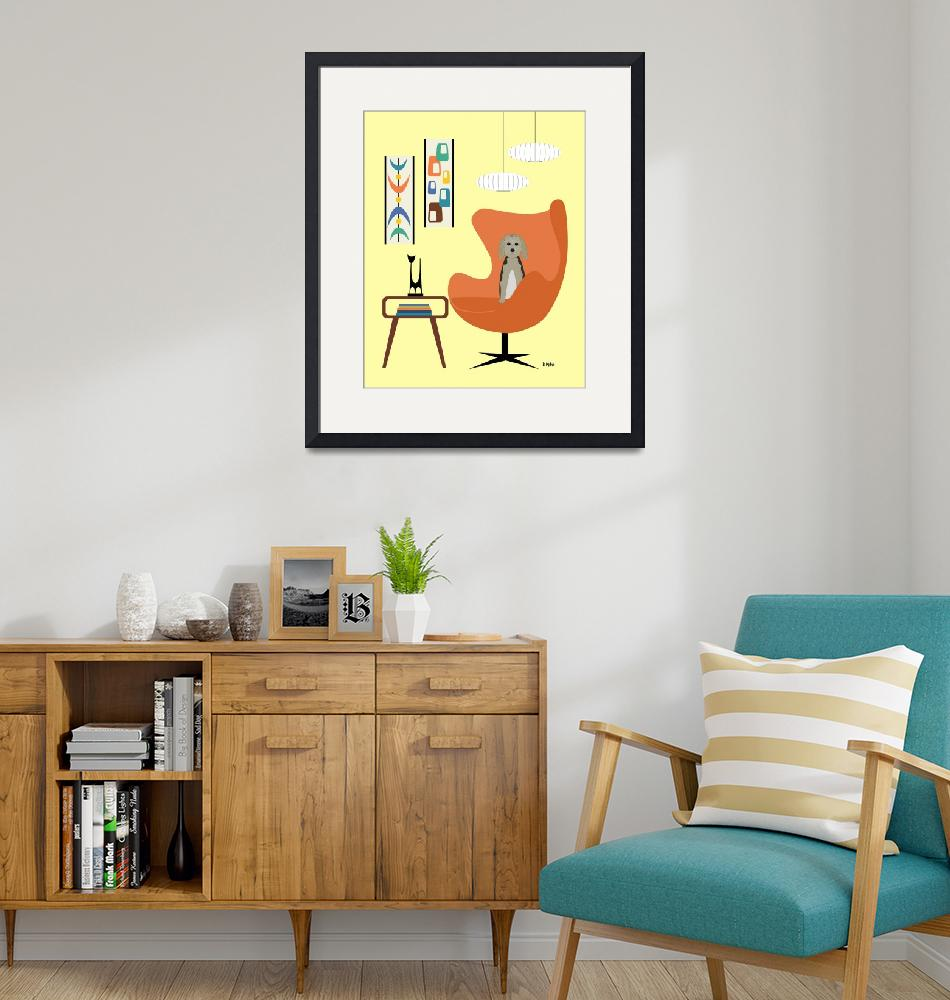 """""""Mid Century Yellow Room 3""""  by DMibus"""
