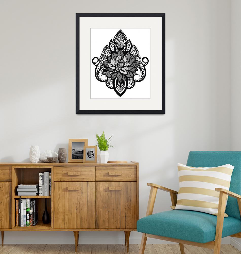 """631 Art Drawing Framed Print""  by buddakats1"