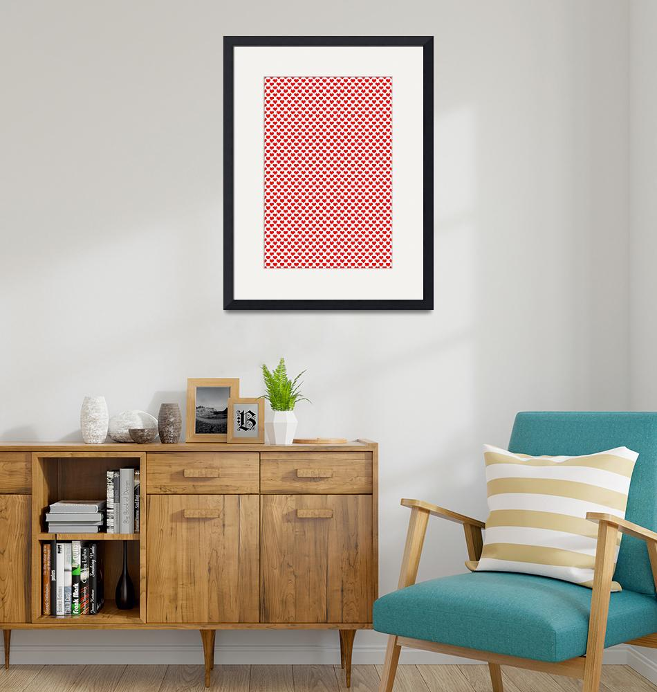 """""""Fun Red Hearts Pattern""""  (2018) by ValeriesGallery"""