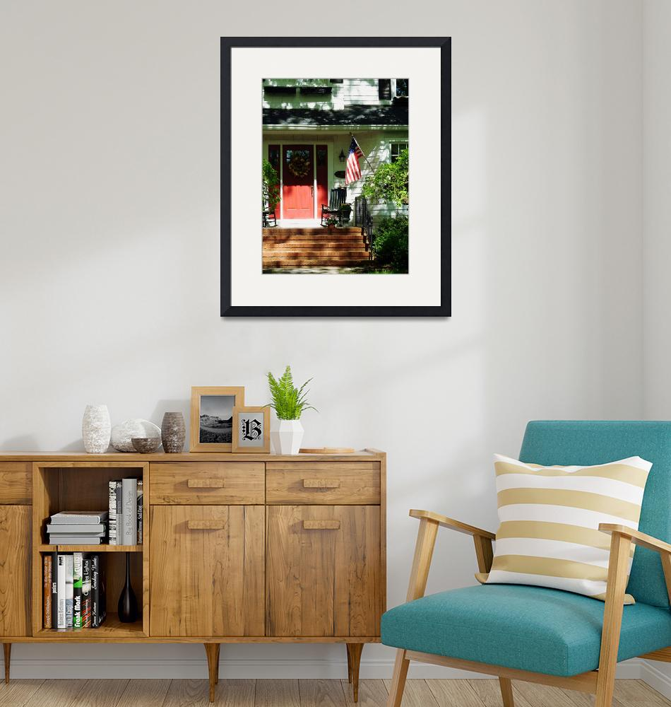 """""""Rocking Chairs by Red Door""""  by susansartgallery"""