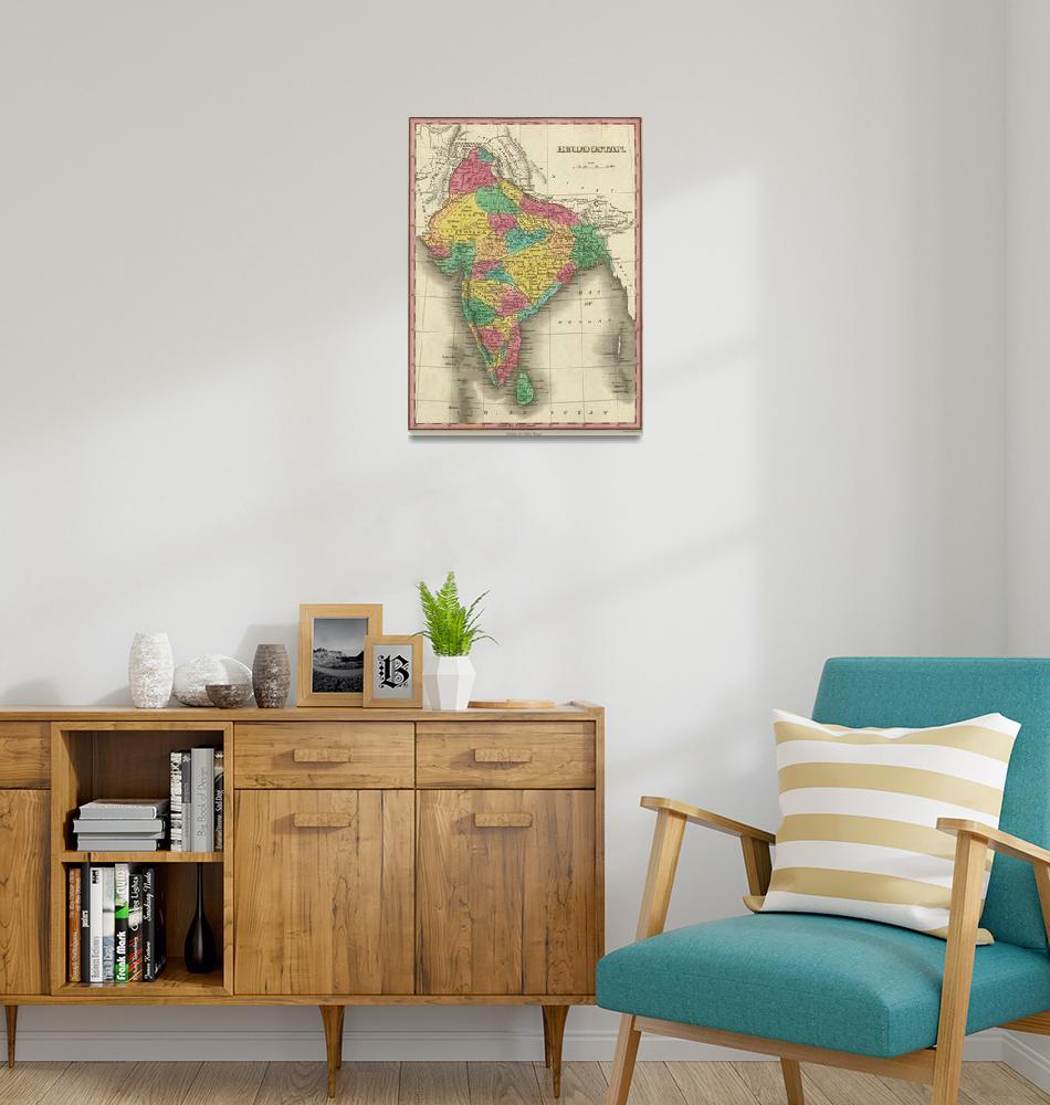 """""""Vintage Map of India (1831)""""  by Alleycatshirts"""