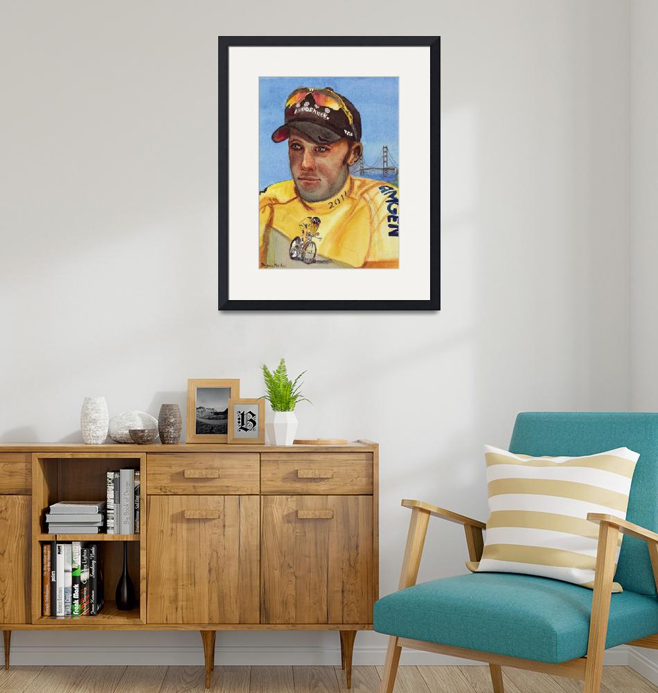 """""""Wearing_the_Yellow_Jersey_Chris_ Horner""""  (2012) by DianaNadalFineArt"""