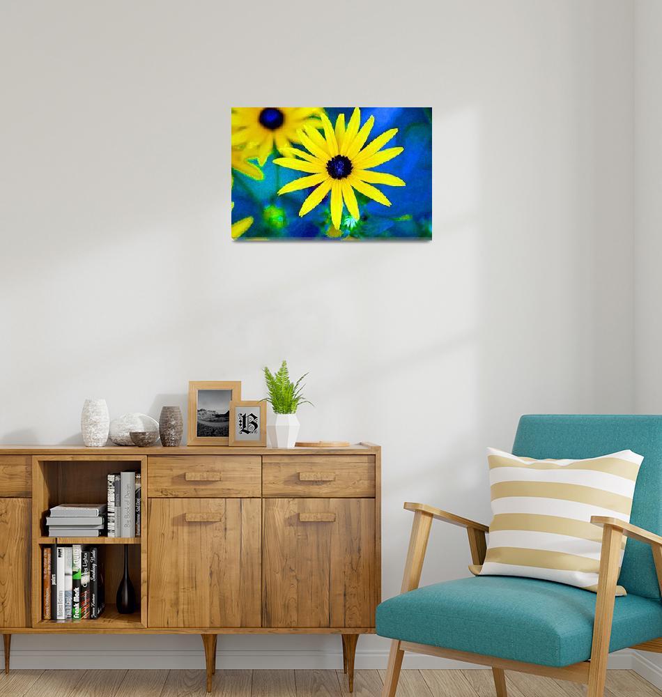 """Black Eyed Susan Flowers Bright""  (2012) by KsWorldArt"
