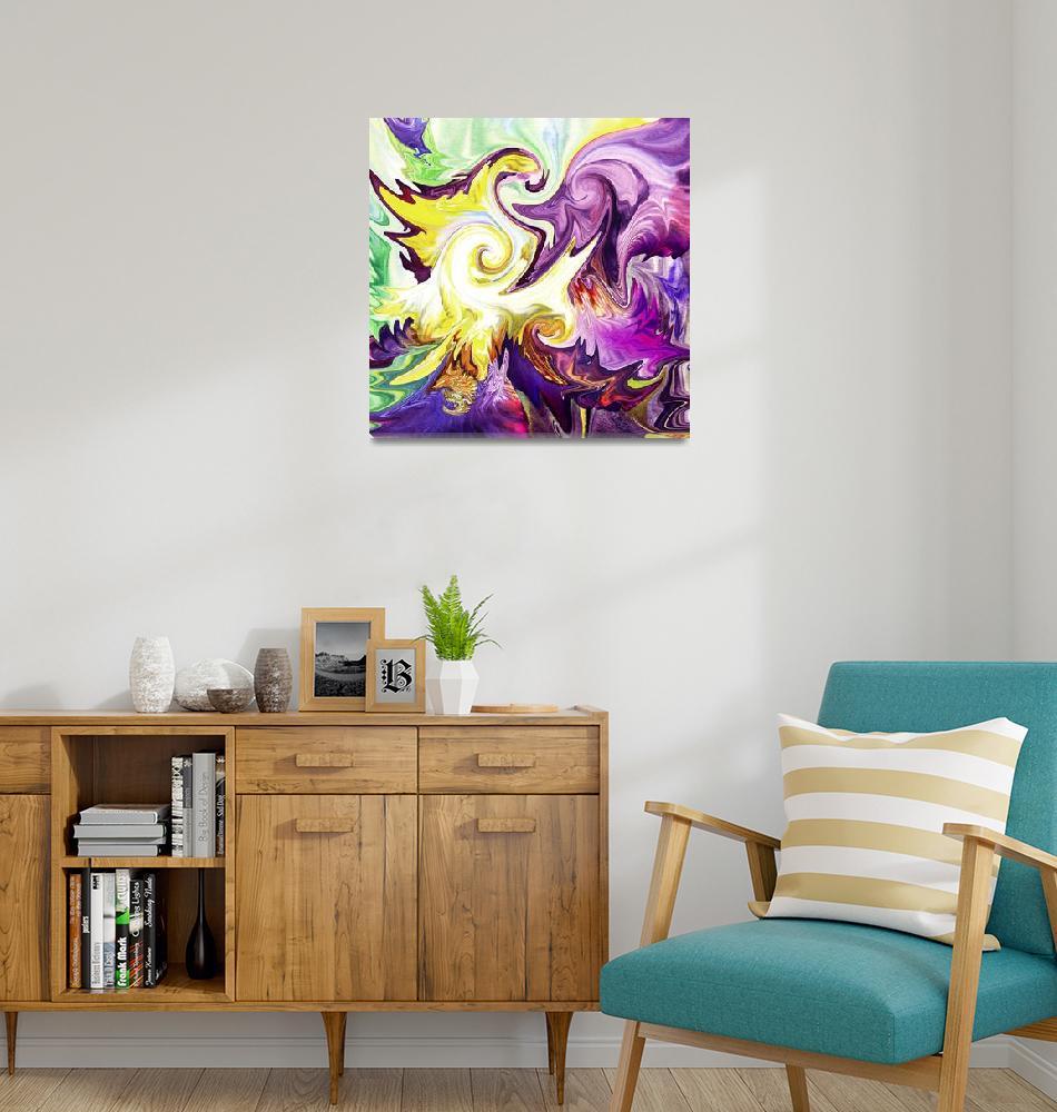 """""""Abstract Purple Flower by Irina Sztukowski""""  (2016) by IrinaSztukowski"""