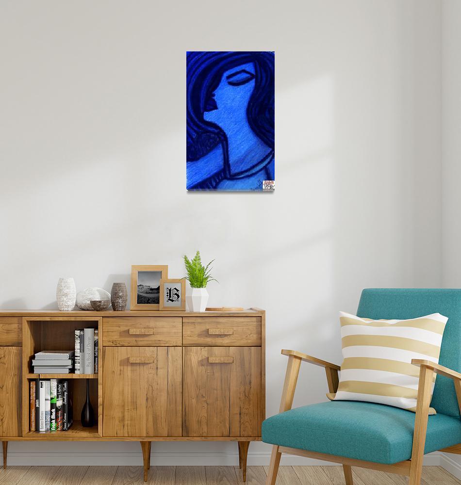 """Blue Singer""  by AngelaHayden"