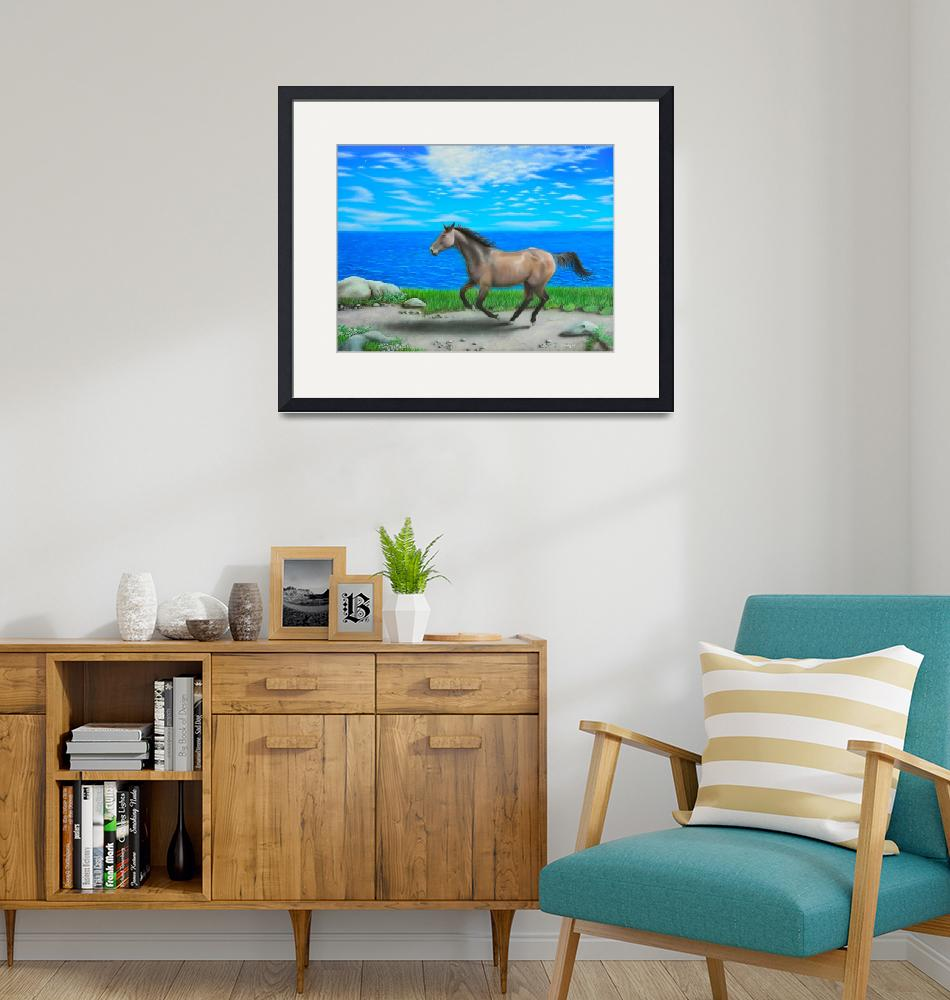 """""""""""Horse by Ocean""""""""  (2010) by airpainter"""