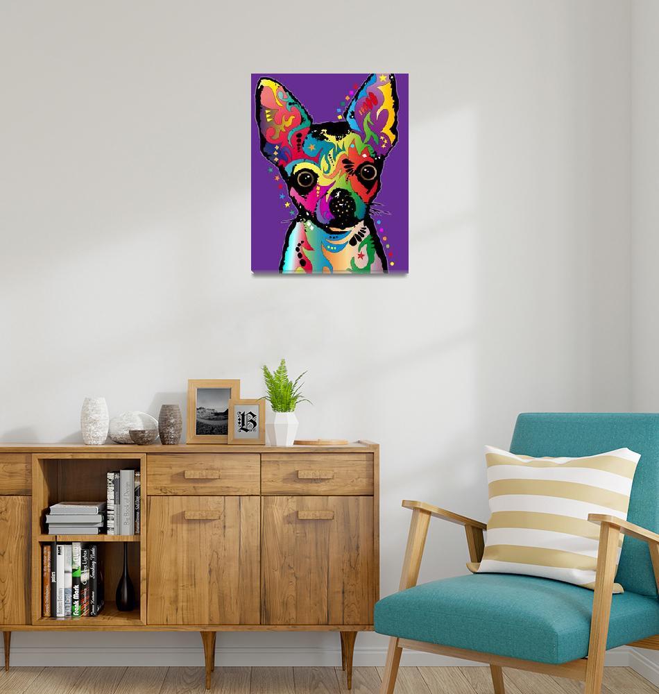"""Chihuahua Art""  (2011) by ModernArtPrints"